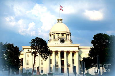 Travel Rights Managed Images - Capitol Building in Montgomery Royalty-Free Image by Carol Groenen