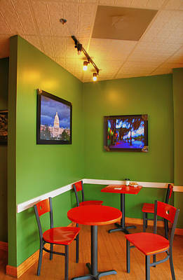 Capitol Hill Cafe Art Print by Steven Ainsworth