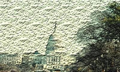 Washington D.c Mixed Media - Capitol In Relief by Pharris Art