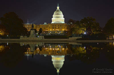 Photograph - Capitol Nights by Ronald Hoehn