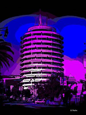 Photograph - Capitol Records Building by George Pedro