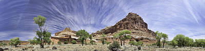 Art Print featuring the photograph Capitol Reef Cloud Show by Gregory Scott