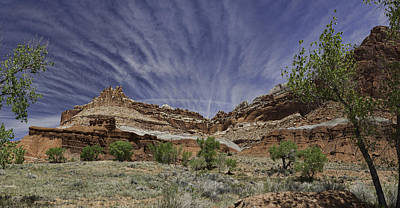 Print featuring the photograph Capitol Reef Sky Fan by Gregory Scott