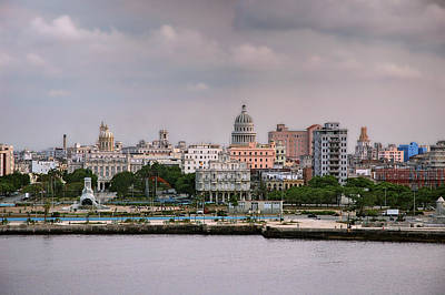 Photograph - Capitol Seen From La Cabana. La Habana. Cuba by Juan Carlos Ferro Duque