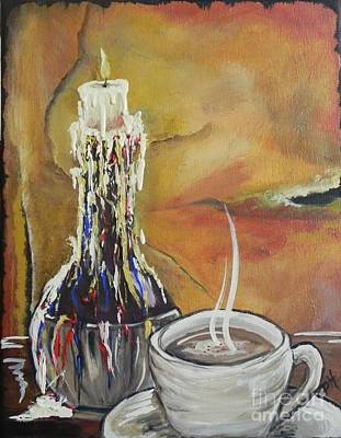 Painting - Cappuccino By Candlelight by Patti Spires Hamilton