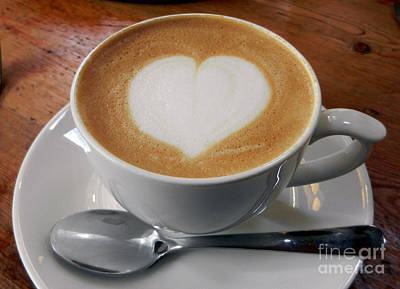 Cappuccino With A Heart Print by Alexandra Jordankova