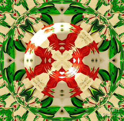 Photograph - Caprese Salad Crystal Ball - A Mandala Paintograph by Christine S Zipps