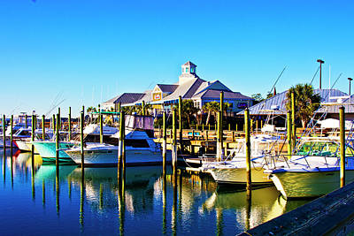 Photograph - Capt Dick's Marina by Bill Barber