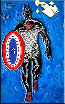 Mixed Media - Captain America To The Rescue by Robert Margetts