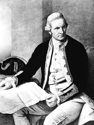 Captain James Cook, 1728-79 Print by Everett