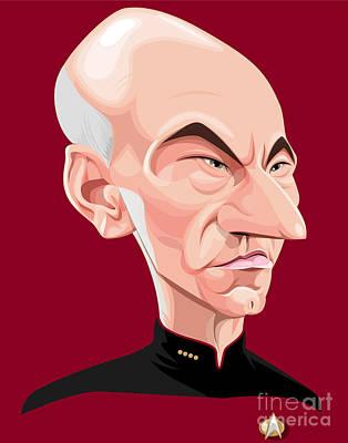 Captain Jean Luc Picard Art Print