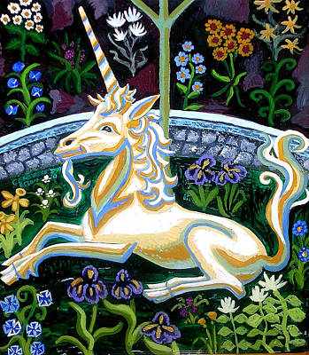 Painting - Captive Unicorn by Genevieve Esson