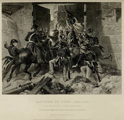 Capture Of Fort George. Col. Winfred Art Print