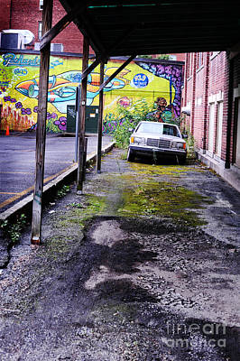 Overhang Photograph - Car And Street Art by HD Connelly
