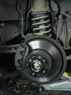 Car Disc Brake Art Print by Andrew Lambert Photography