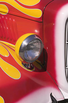 Car Headlight Art Print by Garry Gay