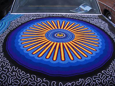 Car Hood Of Yarn Art Print by Kym Backland