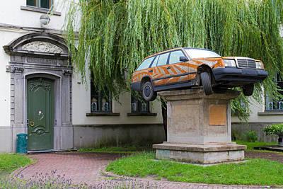 Photograph - Car On A Pedastal by David Freuthal