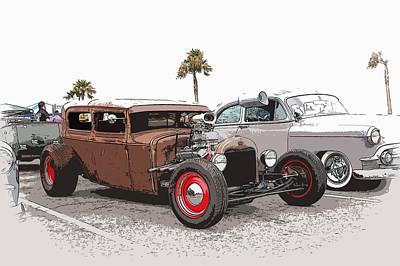 Car Show Cool Art Print by Steve McKinzie