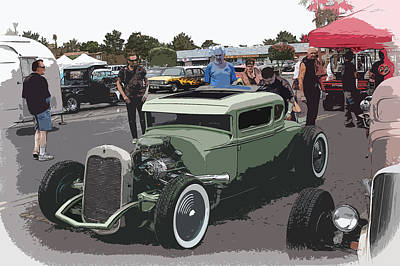 Car Show Coupe Print by Steve McKinzie