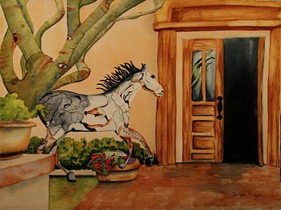 Art Print featuring the painting Cara-soul by Teresa Beyer