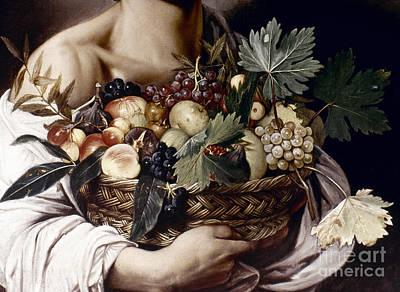 Photograph - Caravaggio: Fruit, by Granger