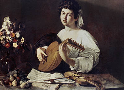 Caravaggio: Luteplayer Art Print by Granger