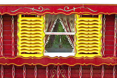 Caravan Window Art Print by Tom Gowanlock