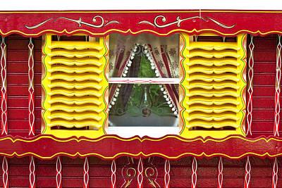 Gypsy Photograph - Caravan Window by Tom Gowanlock