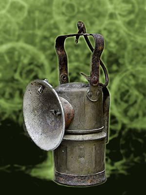 Gas Lamp Mixed Media - Carbide Lamp by Jesus Nicolas Castanon