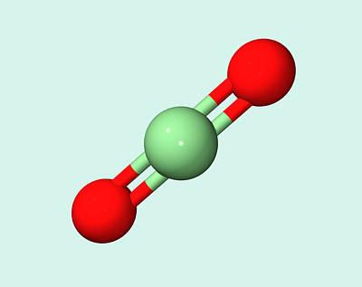 Carbon Dioxide Molecule Print by Dr Tim Evans