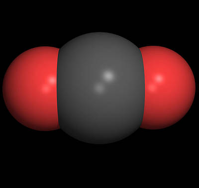Carbon Dioxide Molecule Art Print by Friedrich Saurer