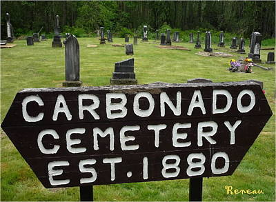 Photograph - Carbonado Cemetery 1880 by Sadie Reneau