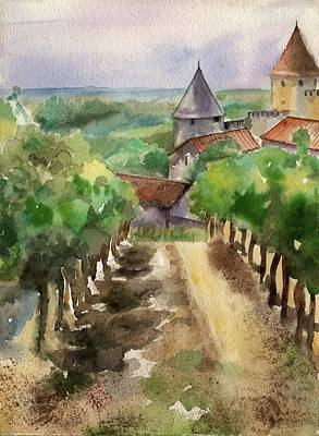 Carcassonne Art Print by Lydia Irving