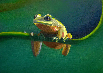Painting - Card Of Frog Of Rain Forest by Nancy Griswold