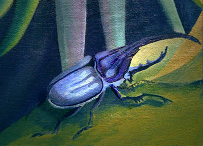 Painting - Card Of Nosey Bug by Nancy Griswold
