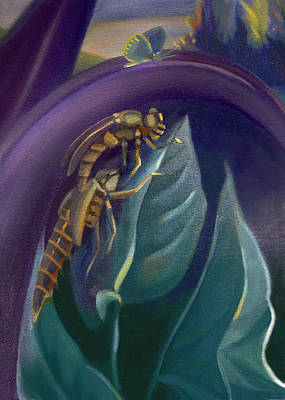 Painting - Card Of Two Ancient Bugs by Nancy Griswold