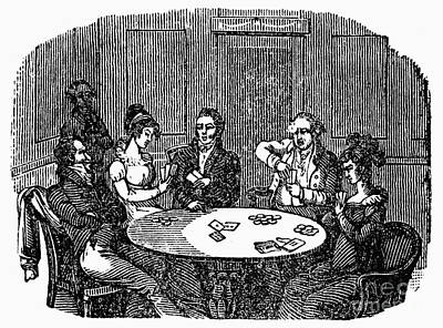 Photograph - Card Players, 1838 by Granger