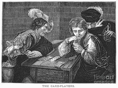 Photograph - Card Players, C1594 by Granger