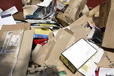 Cardboard Box Photograph - Cardboard Boxes by Victor De Schwanberg