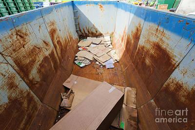 Cardboard Recycle Bin Art Print by Don Mason