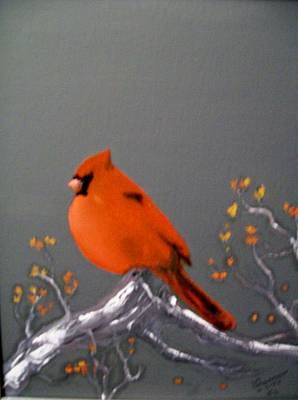 Painting - Cardinal by Al  Johannessen