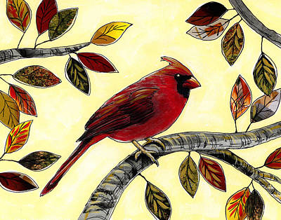Bird Mixed Media - Cardinal by Amy Giacomelli