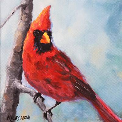 Painting - Cardinal by Debra Mickelson