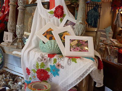Photograph - Cards At Sweet Patina by Carla Parris