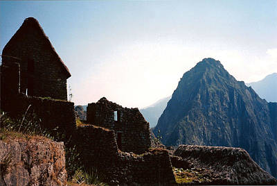 Photograph - Caretaker Hut At Machu Picchu by Susan Alvaro