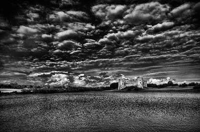 Photograph - Carew Castle Pembrokeshire 2 Mono by Steve Purnell