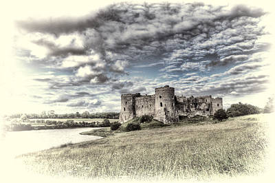 Photograph - Carew Castle Pembrokeshire 3 Toned by Steve Purnell