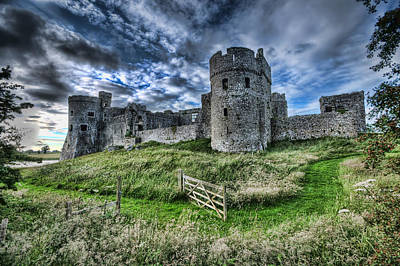 Photograph - Carew Castle Pembrokeshire 4 by Steve Purnell