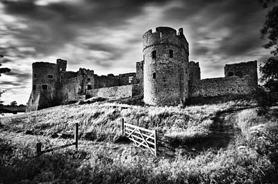 Photograph - Carew Castle Pembrokeshire Long Exposure 2 Mono by Steve Purnell